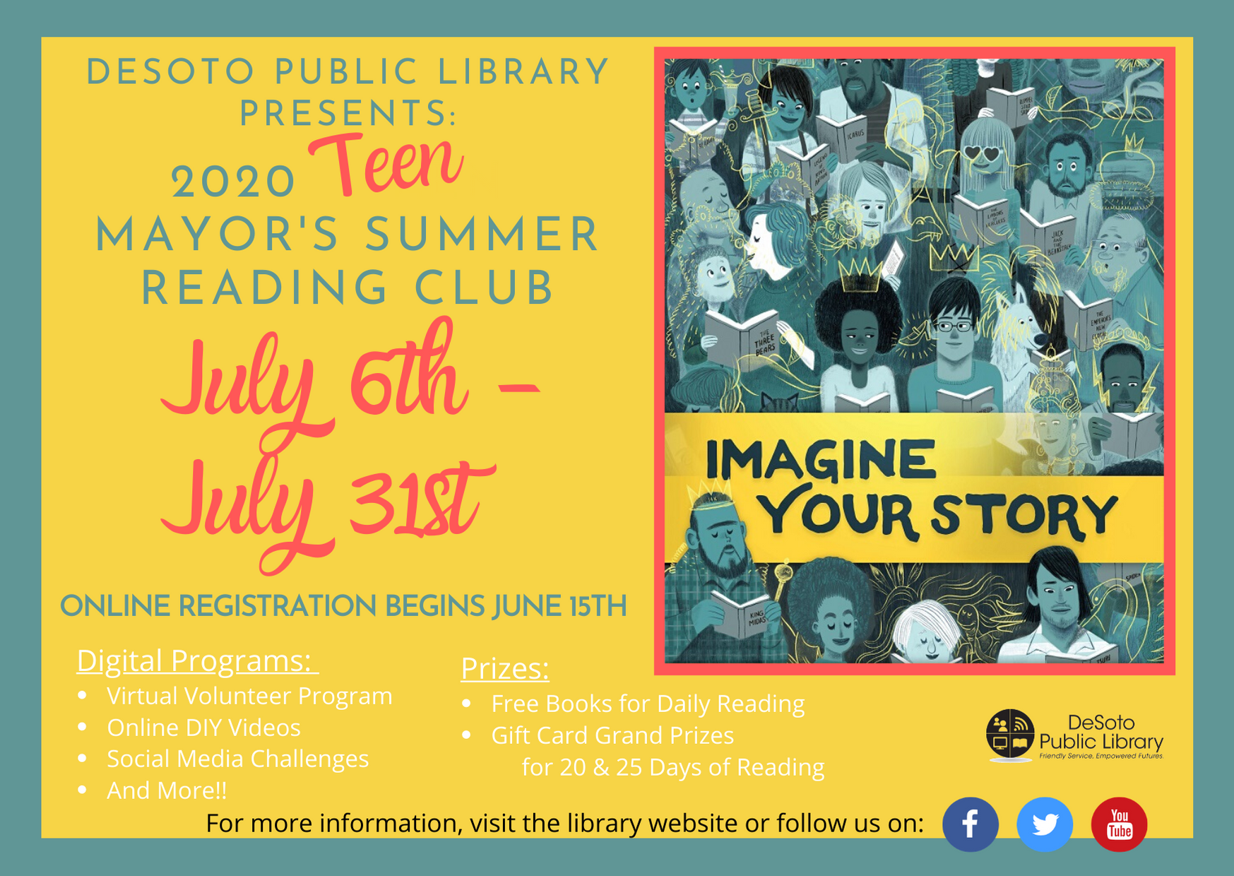 Teen Summer Reading 2020 - Click here for more info about the program